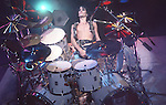 Tommy Lee of Motley Crue at Hartford Civic Center Oct 1985.