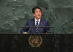 72 General Debate &ndash; 20 September <br /> <br /> <br /> His Excellency Shinzo Abe, Prime Minister of Japan