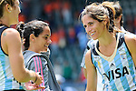 The Hague, Netherlands, June 14: Mariana Rossi #2 of Argentina looks on after the field hockey bronze medal match (Women) between USA and Argentina on June 14, 2014 during the World Cup 2014 at Kyocera Stadium in The Hague, Netherlands. Final score 2-1 (2-1)  (Photo by Dirk Markgraf / www.265-images.com) *** Local caption ***
