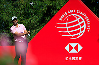 Adrian Otaegui (ESP) on the 2nd tee during the final round at the WGC HSBC Champions 2018, Sheshan Golf CLub, Shanghai, China. 28/10/2018.<br /> Picture Fran Caffrey / Golffile.ie<br /> <br /> All photo usage must carry mandatory copyright credit (&copy; Golffile | Fran Caffrey)