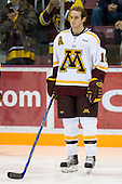 Alex Goligoski (University of Minnesota - Grand Rapids, MN) lines up. The University of Minnesota Golden Gophers defeated the Michigan State University Spartans 5-4 on Friday, November 24, 2006 at Mariucci Arena in Minneapolis, Minnesota, as part of the College Hockey Showcase.
