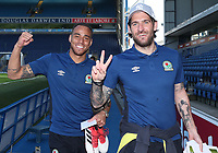 Blackburn Rovers' Danny Graham and Blackburn Rovers' Elliott Bennett arrive at the ground<br /> <br /> Photographer Rachel Holborn/CameraSport<br /> <br /> The EFL Sky Bet League One - Blackburn Rovers v Oxford United - Saturday 5th May 2018 - Ewood Park - Blackburn<br /> <br /> World Copyright &copy; 2018 CameraSport. All rights reserved. 43 Linden Ave. Countesthorpe. Leicester. England. LE8 5PG - Tel: +44 (0) 116 277 4147 - admin@camerasport.com - www.camerasport.com