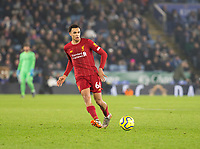 26th December 2019; King Power Stadium, Leicester, Midlands, England; English Premier League Football, Leicester City versus Liverpool; Trent Alexander Arnold of Liverpool  passing the ball forward - Strictly Editorial Use Only. No use with unauthorized audio, video, data, fixture lists, club/league logos or 'live' services. Online in-match use limited to 120 images, no video emulation. No use in betting, games or single club/league/player publications
