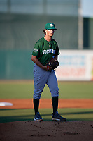Daytona Tortugas starting pitcher Packy Naughton (20) during a Florida State League game against the Palm Beach Cardinals on April 11, 2019 at Roger Dean Stadium in Jupiter, Florida.  Palm Beach defeated Daytona 6-0.  (Mike Janes/Four Seam Images)
