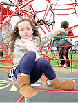 Emily O'Brien pictured at the opening of the new playground in Dunleer. Photo: Colin Bell/pressphotos.ie