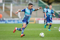 Paris Cowan-Hall of Wycombe Wanderers during the Sky Bet League 2 match between Yeovil Town and Wycombe Wanderers at Huish Park, Yeovil, England on 8 October 2016. Photo by Mark  Hawkins / PRiME Media Images.