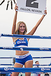 Corona ring girl during the Rural Rumble on Friday night, August 8, 2014 at Churchill County Fairgrounds in Fallon, Nevada.