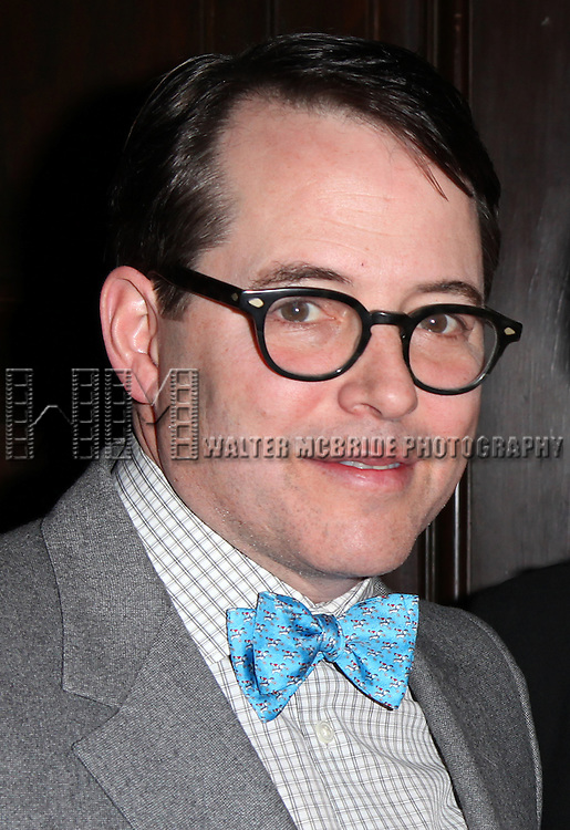 Matthew Broderick attending 'Love 'n' Courage' the 10th Annual Benefit for the Theater for the New City Emerging Playwrights Program Celebrating Charles Busch at the National Arts Club in New York City on 2/25/2013