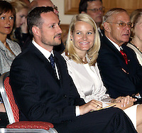 Crown Prince Haakon & Crown Princess Mette-Marit of Norway's three-day visit to Poland..Norwegian-Polish Conference at the Radisson SAS Centrum Hotel in Warsaw.