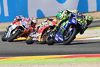 Aragon 24-09-2017 Moto Gp Spain photo Luca Gambuti/Image Sport/Insidefoto <br /> nella foto: Valentino Rossi-Dani Pedrosa-Andrea Dovizioso