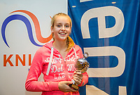 Hilversum, Netherlands, December 3, 2017, Winter Youth Circuit Masters, 12,14,and 16, years, prizegiving 16 years<br /> , 3th place girls : Elysia Pool  .<br /> Photo: Tennisimages/Henk Koster