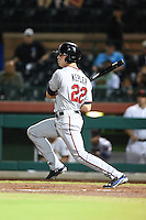 Salt River Rafters outfielder Max Kepler (22) during an Arizona Fall League game against the Scottsdale Scorpions on October 8, 2014 at Scottsdale Stadium in Scottsdale, Arizona.  Salt River defeated Scottsdale 6-3.  (Mike Janes/Four Seam Images)