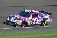 Oct. 11, 2009; Fontana, CA, USA; NASCAR Sprint Cup Series driver Clint Bowyer during the Pepsi 500 at Auto Club Speedway. Mandatory Credit: Mark J. Rebilas-