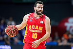 UCAM Murcia's player Carlos Cabezas during the third match of the Liga Endesa Playoff at Barclaycard Center in Madrid. May 31. 2016. (ALTERPHOTOS/Borja B.Hojas)