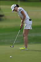 Jennifer Song putts the ball on the 9th green during Round 3 at the ANA Inspiration, Mission Hills Country Club, Rancho Mirage, Calafornia, USA. {03/31/2018}.<br />