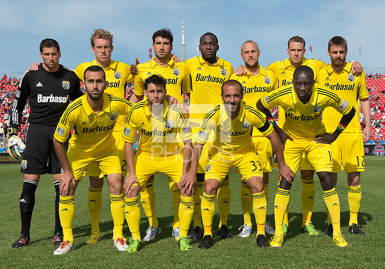 18 May 2013: The Columbus Crew starting eleven during an MLS game between the Columbus Crew and Toronto FC at BMO Field in Toronto, Ontario Canada..The Columbus Crew won 1-0..
