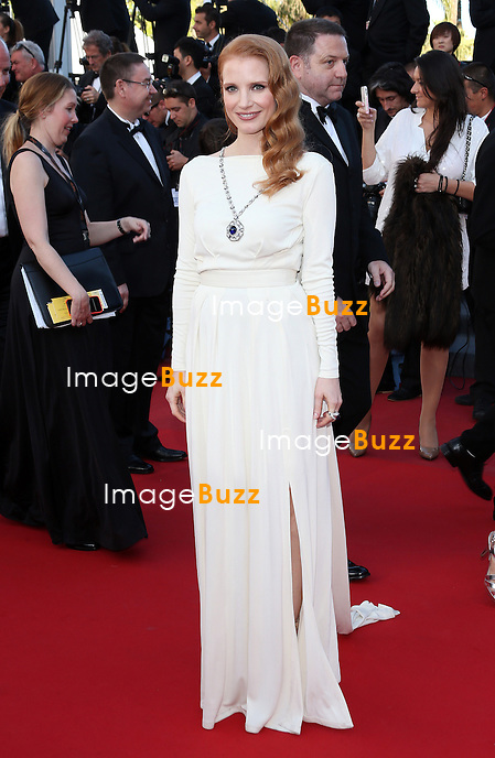 "Jessica Chastain attends the "" Behind The Candelabra' "" premiere during The 66th Annual Cannes Film Festival at The 60th Anniversary Theatre on May 21, 2013 in Cannes, France."