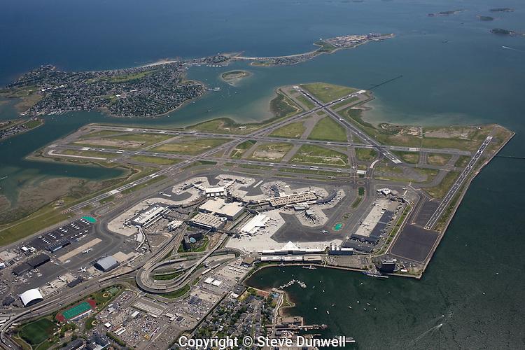 Logan airport, Boston, MA aerial