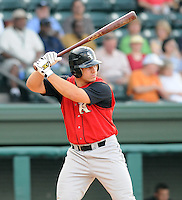 August 25, 2009: Catcher Josh Phegley (22) of the Kannapolis Intimidators, 2009 first round supplemental draft pick of the Chicago White Sox out of Indiana University, in a game at Fluor Field at the West End in Greenville, S.C. Photo by: Tom Priddy/Four Seam Images