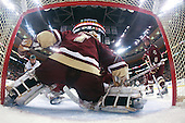 Brian Roloff (Vermont - 14), John Muse (BC - 1), Tim Kunes (BC - 6) - The Boston College Eagles defeated the University of Vermont Catamounts 4-0 in the Hockey East championship game on Saturday, March 22, 2008, at TD BankNorth Garden in Boston, Massachusetts.