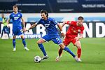 v.l. Florian Grillitsch (Hoffenheim), Dani Olmo (Leipzig).<br /> <br /> Sport: Fussball: 1. Bundesliga: Saison 19/20: 31. Spieltag: TSG 1899 Hoffenheim - RB Leipzig, 12.06.2020<br /> <br /> Foto: Markus Gilliar/GES/POOL/PIX-Sportfotos