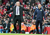 Burnley manager Sean Dyche cuts a frustrated figure on the touchline<br /> <br /> Photographer David Shipman/CameraSport<br /> <br /> The Premier League - Arsenal v Burnley - Saturday 22nd December 2018 - The Emirates - London<br /> <br /> World Copyright © 2018 CameraSport. All rights reserved. 43 Linden Ave. Countesthorpe. Leicester. England. LE8 5PG - Tel: +44 (0) 116 277 4147 - admin@camerasport.com - www.camerasport.com