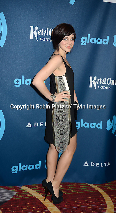 Krysta Rodriguez of Smash attends the 24th Annual GLAAD Media Awards on March 16, 2013 at The Marriott Marquis in New York City.