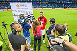 Solna 2013-08-06 Football Friendly Game , AIK - Manchester United FC :  <br /> Manchester United interjvuas i TV efter matchen<br /> (Foto: Kenta J&ouml;nsson) Nyckelord:  portr&auml;tt portrait