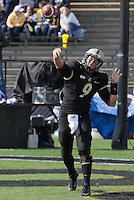 Purdue Boilermaker quarterback Robert Marve. The Michigan Wolverines defeated the Purdue Boilermakers 44-13 on October 6, 2012 at Ross-Ade Stadium in West Lafayette, Indiana.
