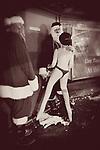 naughty Santa with blow-up doll at the Reno santa pub crawl 2009