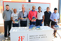 Runners Up at the prize giving during the ProAm ahead of the Rocco Forte Sicilian Open played at Verdura Resort, Agrigento, Sicily, Italy 09/05/2018.<br /> Picture: Golffile | Phil Inglis<br /> <br /> <br /> All photo usage must carry mandatory copyright credit (&copy; Golffile | Phil Inglis)