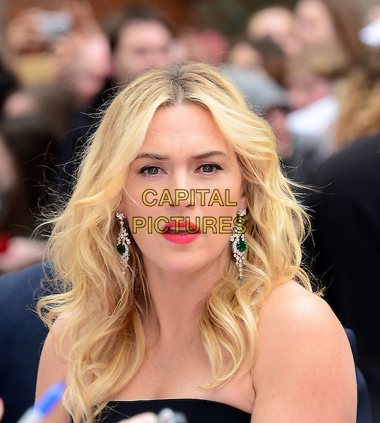 LONDON, ENGLAND - MARCH 30:  Kate Winslet attends Divergent UK film premiere, a thriller set in a futuristic dystopia that divides people based on their human traits, at Odeon Leicester Square, 24-26 Leicester Square, on March 30, 2014, in London, England.  <br /> CAP/JOR<br /> &copy;Nils Jorgensen/Capital Pictures