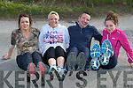 MINI MARATHON:: John O'Shea, Louise O'Shea,Antoinette O'Mahony and Caoimhe Marley in preparation for their fort coming Mini Marathon in Traing at Sandy Beach, Banna on Saturday.