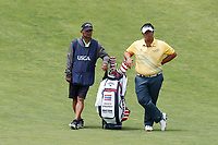 Kiradech Aphibarnrat (THA) waits to hit his second shot on the 9th hole during the second round of the 118th U.S. Open Championship at Shinnecock Hills Golf Club in Southampton, NY, USA. 15th June 2018.<br /> Picture: Golffile | Brian Spurlock<br /> <br /> <br /> All photo usage must carry mandatory copyright credit (&copy; Golffile | Brian Spurlock)