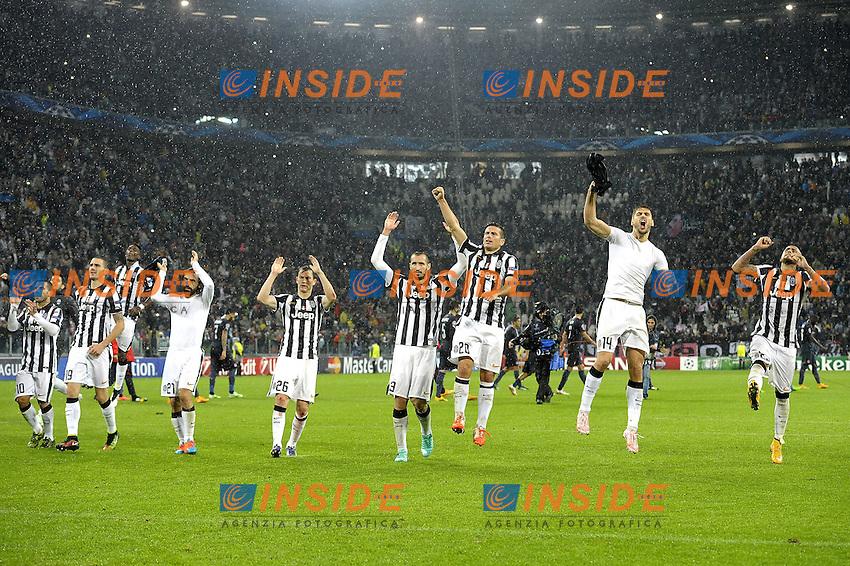 esultanza finale Juventus,<br /> Torino 04-11-2014, Juventus Stadium, Football Calcio 2014/2015 Champions League, Juventus - Olympiacos, foto Filippo Alfero/Insidefoto