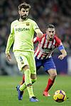 Club Atletico de Madrid's Koke Resurreccion (R) and Futbol Club Barcelona's Gerard Pique  during La Liga match. November 24,2018. (ALTERPHOTOS/Alconada)