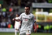 Pictured: Leon Britton of Swansea City in action <br /> Re: Coca Cola Championship, Swansea City FC v Cardiff City at the Liberty Stadium. Swansea, south Wales, Sunday 30 November 2008.<br /> Picture by D Legakis Photography / Athena Picture Agency, Swansea 07815441513