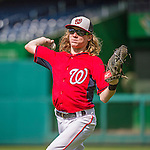 22 May 2015: Washington Nationals outfielder Jayson Werth's son, Jackson Werth, tosses some ball with players during batting practice prior to a game against the Philadelphia Phillies at Nationals Park in Washington, DC. The Nationals defeated the Phillies 2-1 in the first game of their 3-game weekend series. Mandatory Credit: Ed Wolfstein Photo *** RAW (NEF) Image File Available ***