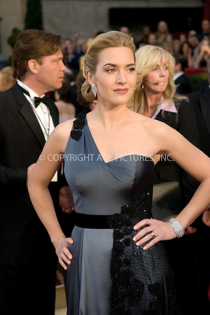 WWW.ACEPIXS.COM . . . . .  ....February 22, 2009. Hollywood, CA....Actress Kate Winslet rrives at the 81st Annual Academy Awards held at the Kodak Theater on February 22, 2009 in Hollywood, CA.......Please byline: Z09- ACEPIXS.COM.... *** ***..Ace Pictures, Inc:  ..Philip Vaughan (646) 769 0430..e-mail: info@acepixs.com..web: http://www.acepixs.com