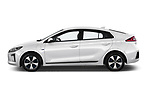 Car driver side profile view of a 2017 Hyundai Ioniq Plug-In Hybride Executive 5 Door Hatchback