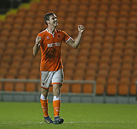 Blackpool's Ben Heneghan applauds the fans at the final whistle <br /> <br /> Photographer Stephen White/CameraSport<br /> <br /> The EFL Sky Bet League One - Blackpool v Charlton Athletic - Saturday 8th December 2018 - Bloomfield Road - Blackpool<br /> <br /> World Copyright &copy; 2018 CameraSport. All rights reserved. 43 Linden Ave. Countesthorpe. Leicester. England. LE8 5PG - Tel: +44 (0) 116 277 4147 - admin@camerasport.com - www.camerasport.com