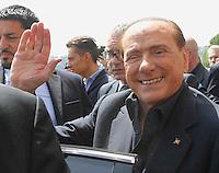 Silvio Berlusconi a Napoli per sostenere ila campagma elettorale di Gianni Lettieri , candidato a Sindaco per il Centrodestra <br /> nella foto Silvio Berlusconi