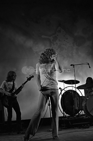 Led Zeppelin performing at the Newport Jazz Festival in Newport, RI on July 6, 1969.  <br /> ** NEVER-BEFORE PUBLISHED PHOTOS **<br /> © Peter Tarnoff / MediaPunch