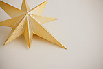 Close up of gold Christmas tree toper