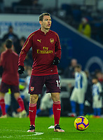 Arsenal's Stephan Lichtsteiner during pre-match warmup<br /> <br /> Photographer David Horton/CameraSport<br /> <br /> The Premier League - Brighton and Hove Albion v Arsenal - Wednesday 26th December 2018 - The Amex Stadium - Brighton<br /> <br /> World Copyright © 2018 CameraSport. All rights reserved. 43 Linden Ave. Countesthorpe. Leicester. England. LE8 5PG - Tel: +44 (0) 116 277 4147 - admin@camerasport.com - www.camerasport.com