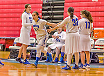 24 November 2015: Yeshiva University Maccabee Forward Rachel Mirsky, a Senior from White Plains, NY, is introduced prior to a game against the College of Mount Saint Vincent Dolphins at the Baruch College ARC Arena Gymnasium, in New York, NY. The Dolphins defeated the Maccabees 67-30 in the NCAA Division III Women's Basketball Skyline matchup. Mandatory Credit: Ed Wolfstein Photo *** RAW (NEF) Image File Available ***