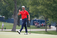 Jon Rahm (ESP) putts on the 8th hole during the final round of the 100th PGA Championship at Bellerive Country Club, St. Louis, Missouri, USA. 8/12/2018.<br /> Picture: Golffile.ie | Brian Spurlock<br /> <br /> All photo usage must carry mandatory copyright credit (&copy; Golffile | Brian Spurlock)