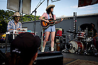 Nikki Lane performs on Saturday, June 25, 2016, at Sun King Brewery in Indianapolis, Indiana. (Photo by James Brosher)