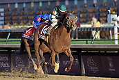 3rd November, 2018, Churchill Downs, Louisville, Kentucky, USA; Accelerate with Joel Rosario up wins the Breeders Cup Classic. Churchill Downs racecourse.