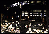 D&amp;RGW Alamosa roundhouse interior.  &quot;Alamosa Roundhouse&quot;.<br /> D&amp;RGW  Alamosa, CO  Taken by Berkstresser, George